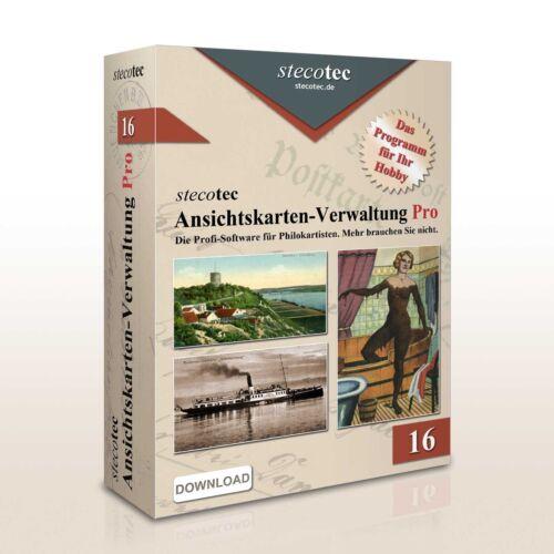 für Ansichtskarten-Sammlung f Album-Progr Berlin Oldenburg Hannover Gotha ua.