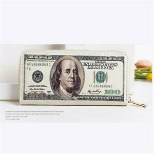 Vintage Coin Bags Men's Wallets Dollar Pattern Handbag Clutch Purses Holders YS