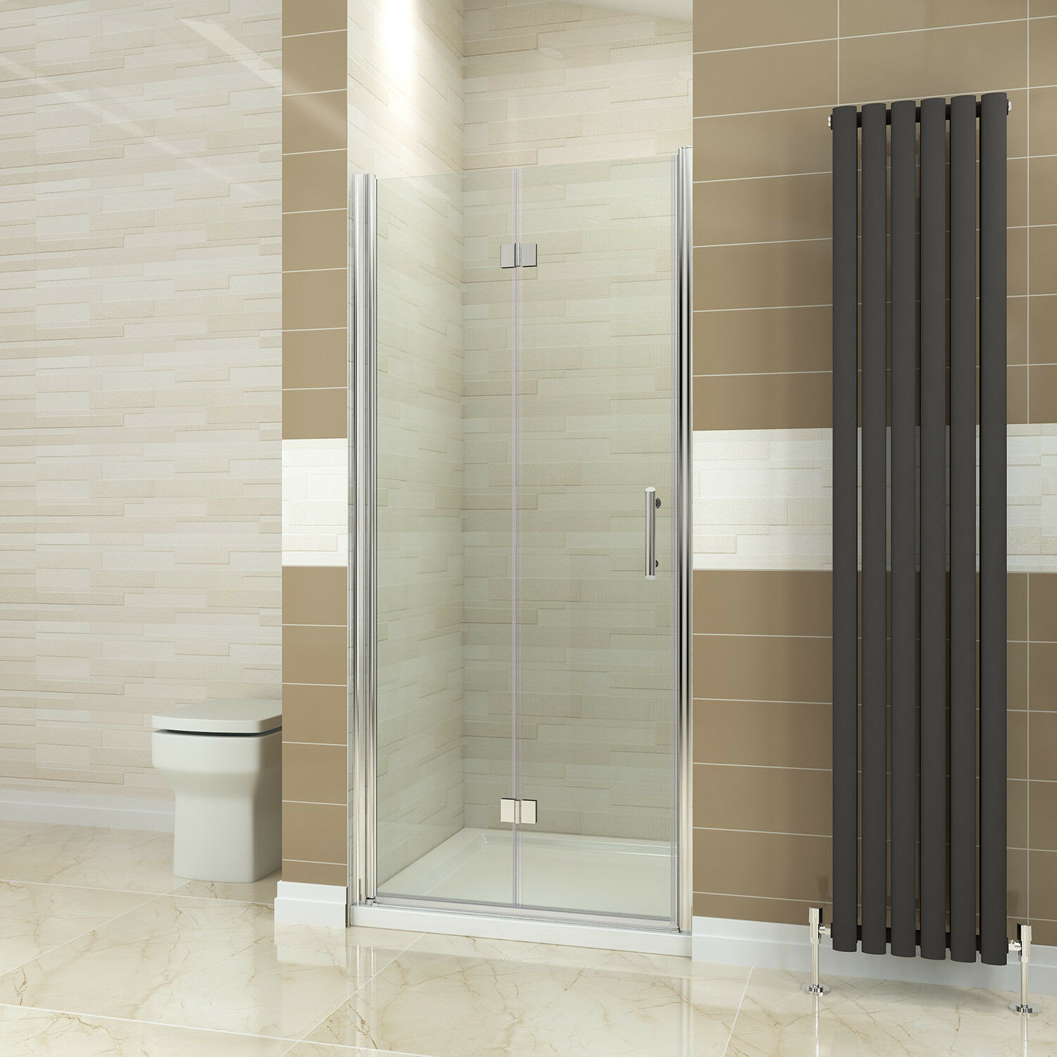 Frameless Pivot Door Shower Enclosure Tray Hinges Cubicle 6mm Glass Screen Waste 1400x800mm 800