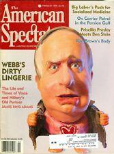 1998 The American Spectator Magazine: Jim Webb- Vince & Hillary Clinton
