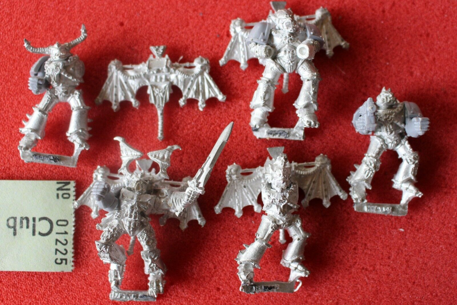 Games Workshop Warhammer 40k Chaos Space Marines Night Lord Raptor Raptors Metal