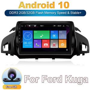 """9"""" Vier Kern ANDROID 10 AUTORADIO Mit GPS NAVI DAB+ Für FORD Kuga 2013-19 4G LET"""