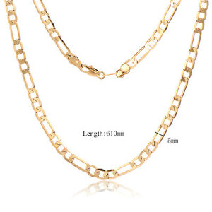 18K-yellow-Gold-Plated-Cuban-Link-Chain-Necklaces-Mens-Hip-Hop-Jewelry-5mm