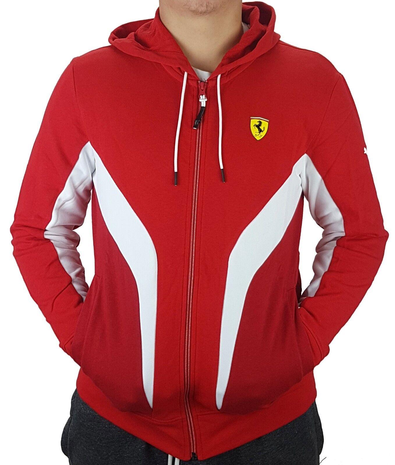 Puma Scuderia Ferrari Hoody Sweatjacke Kapuzenpullover Formel 1 Jacke Rot M   L