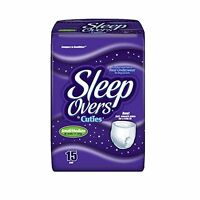 Sleep Overs Pull-up Overnight Underpants, Small/medium, 15 Ct - Pack Of 4