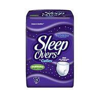 Sleep Overs Pull-up Overnight Underpants, Small/medium, 15 Ct - Pack Of 4