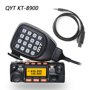 QYT-KT-8900-U-VHF-Car-Mobile-Two-Way-Radio-136-174-400-480MHz-25W-USB-Cable