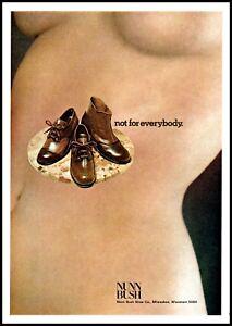 1972 NUNN BUSH Shoe Vintage Print Ad Nude Womens Torso
