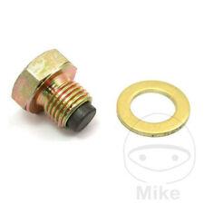 Magnetic Oil Drain Bolt Plug Fits Suzuki SV650 16-17 V-Strom 650//XT 04-17 Silver