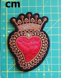 Details About Heart Crown King Queen Cartoon Patches T Shirt Patch Sew Iron On Embroidered Diy