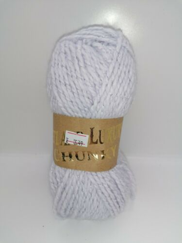 Woolcraft Shetland Luxury Chunky Yarn 77/% Acrylic 3/% Metallic 20/% Wool