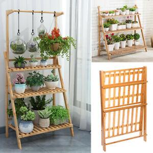 Large-Bamboo-Flower-Pot-Shelf-Plant-Stand-3-Tiers-Planter-Ladder-Rack-Organizer