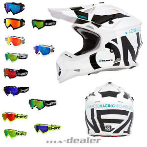 2019-O-039-Neal-2-Series-SLICK-BIANCO-CASCO-Crosshelm-MX-Motocross-hp7-Crossbrille
