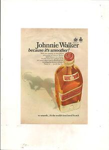 ORIGINAL-VINTAGE-1967-JOHNNIE-WALKER-SCOTCH-WHISKY-AUSTRALIAN-A5-COLOUR-ADVERT