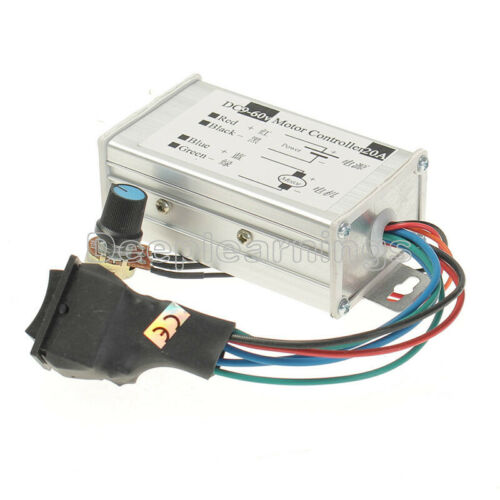 12V 24V 20A Max PWM DC Motor Stepless Variable Speed Controller 25kHz Switch New