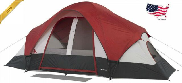 Ozark Trail 8 Person Instant Cabin Tent 2 Room Family Camping Outdoor|16 x 8 ft|