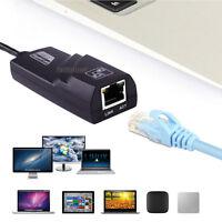 USB 3.0 to Gigabit RJ45 Ethernet LAN Network Card Adapter 10/100/1000 Mbps Black