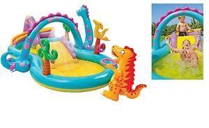 Piscina gonfiabile per bambini con scivolo intex 57444np ebay - Scivolo gonfiabile per piscina ...