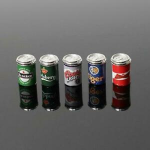1-12-Dollhouse-Miniature-Mini-5pcs-Assorted-Beer-Cans-Beer-amp-Food-Grocerie-I2E4