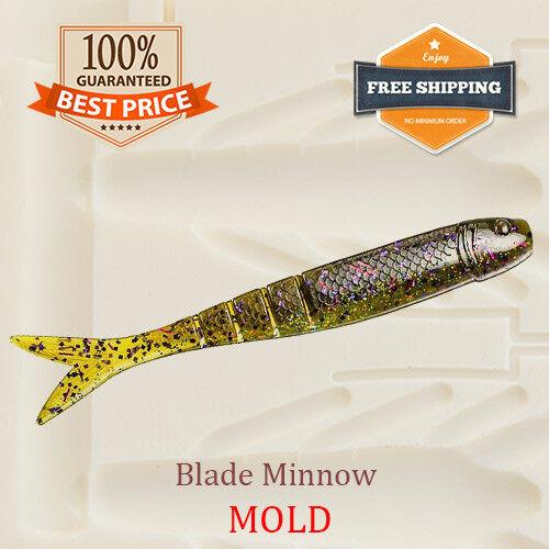 Bait Mold Blade Minnow Shad Fishing Lure Soft Plastic 100-114 mm