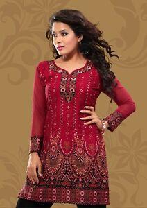 Indian-Designer-Crepe-tops-blouse-kurta-Kurtis-Tunics-for-Women