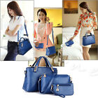 3PCS Women Lady Handbag Shoulder Crossbody Bag Tote Messenger Leather Purse Set