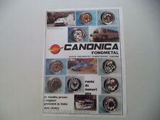 advertising Pubblicità 1983 RUOTE CANONICA FONDMETAL - ASTI