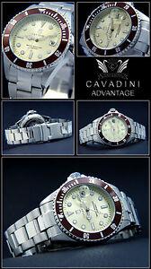 Advantage-Cavadini-Diver-039-s-Quartz-Men-039-s-Watch-30-bar-Solid-Stainless-Steel