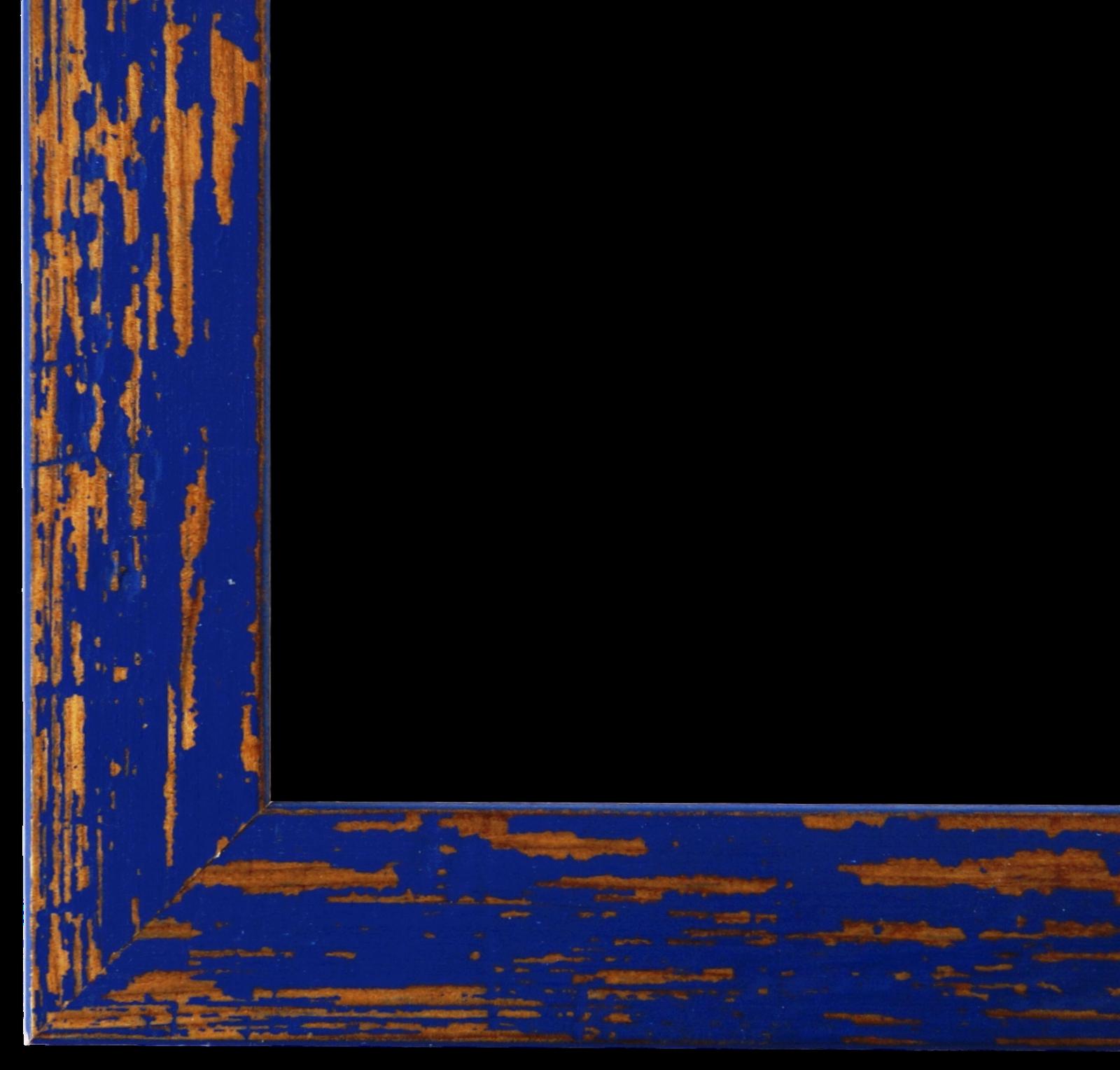 Bilderrahmen Blau Antik Vintage Holz Cremona 3,0 - 40x60 50x50 50x60 60x60