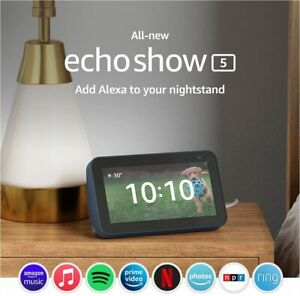 All-new Echo Show 5 2nd Gen, 2021 release with Alexa  2 MP camera  Deep Sea Blue