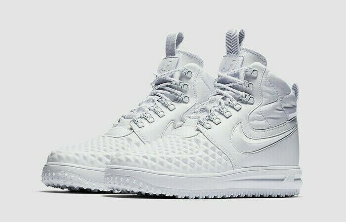 NIKE AF1 LF1 DUCKBOOT '17 PRM MENS 9.5 TRIPLE WHITE NEW AA1123-100