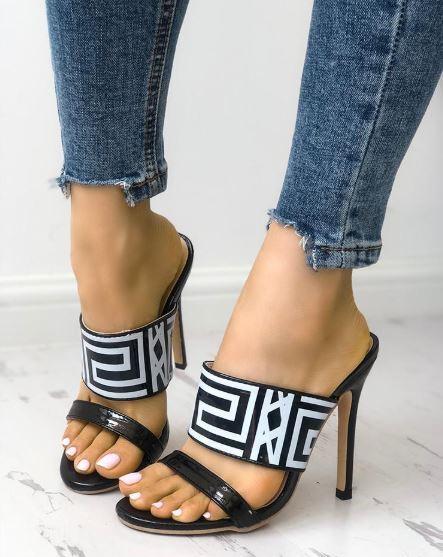 Sandali stiletto tronchetto ciabatte sabot nero 12 cm  simil pelle pelle simil eleganti 1321 d53f20
