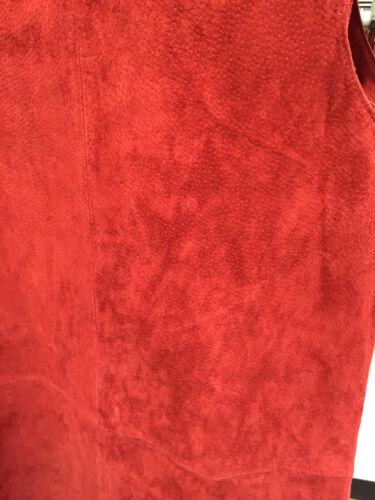 ZARA NEW SUEDE LEATHER DRESS DARK RED MINI SLEEVELESS XS-L  Ref 2398//227
