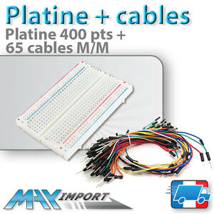 Pack-platine-d-039-essai-400-pts-65-cables-Male-Male-Compatible-Arduino