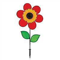 12 Red Sunflower With Leaves Spinner 2774 Ebay