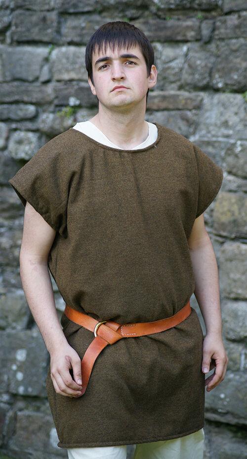 ROMAN-Dark Age-Saxon-Re enactment--LARP- BASIC WASHABLE WOOL TUNIC-ALL SIZES