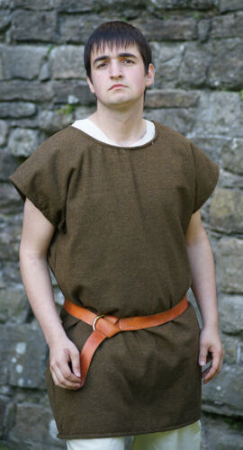 ROMAN-Dark Age-Saxon-Re enactment--LARP BASIC WASHABLE WOOL TUNIC-ALL SIZES