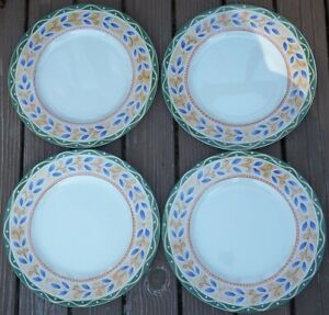 LOT-of-4-PTS-INTERIORS-SALERNO-Dinner-Plates-about-10-3-4-inches-across