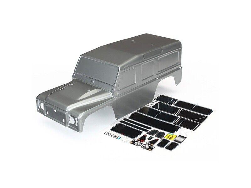 Traxxas Karo, Land Rover Defender, Graphite plateado + Decals trx-4 - 8011x