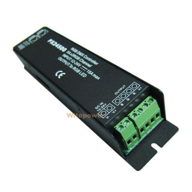 DMX 512 Decoder driver DMX512 PX24500 RGB controller for 12V 24V LED strip light