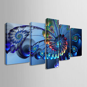 Not framed canvas print home decor modern wall art animal blue peacock pictures ebay Home decor wall prints
