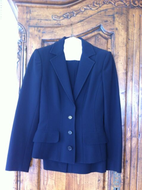 Dolce And Gabbana Black Blazer Jacket And Skirt Suit Size 40 Small