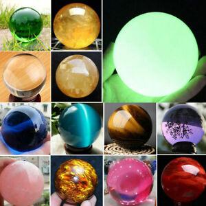 Lot Sphere Natural Reiki Healing Gemstone Stone Magic Crystal Quartz Ball