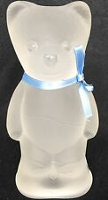 Adorable NYBRO Sweden Teddy Bear Frosted Glass  Figure, Paperweight
