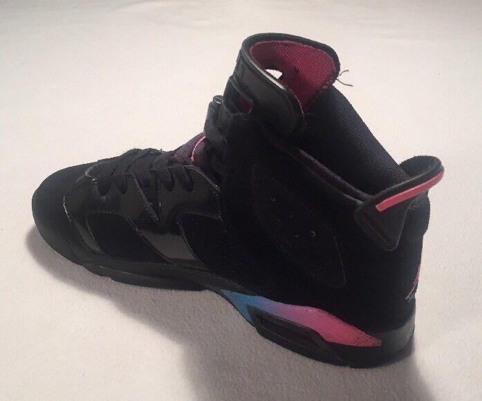 Nike Nike Nike Jordan 6 vi Retrò GS-Nero/Rosa/Blu Rainbow 543390 050 Tg