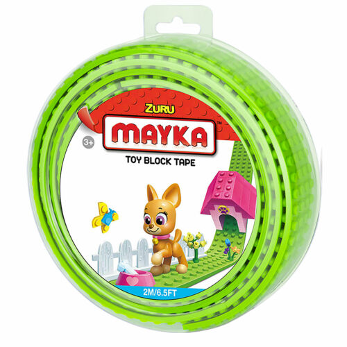 Mayka Toy Bloc ruban adhésif 2 m//6.5 Ft 4-Stud Choisissez parmi 9 couleurs environ 1.98 m Par ZURU