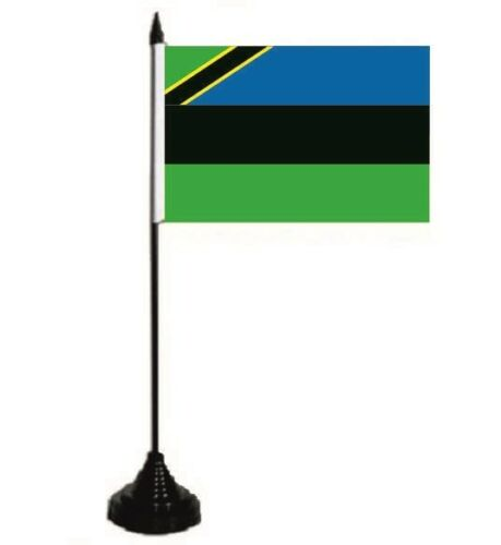 Tischflagge Sansibar Tischfahne Fahne Flagge 10 x 15 cm