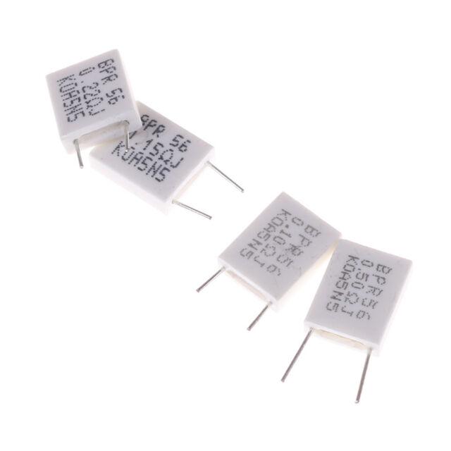 10pcs 5W 5/% 0.1//0.15//0.22//0.5 Ohm Cement Resistor Non-Inductive Resistor BPTPI