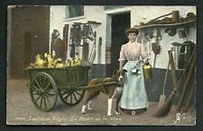Belgio : trasporto del latte con carro trainato da cane - viaggiata nel 1910