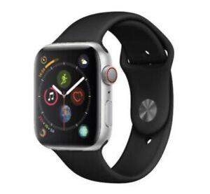 Reloj de Apple serie 4 44 mm Caja de aluminio con banda negra Sport Gps + Celular